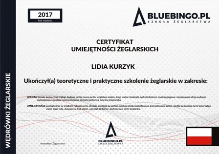 certyfikat umiejętności żeglarskich