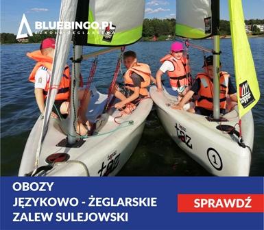 kolonie i obozy jezykowo zeglarskie nad Zalewem Sulejowski