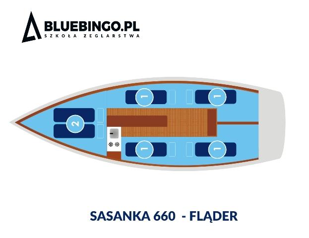 schemat jachtu sasanka flader