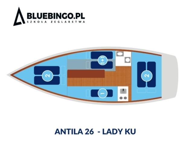 schemat jachtu antila 26