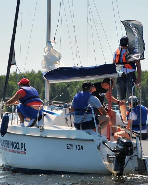 Szkolenia żeglarskie nad zalewem Sulejowskim,Mazury